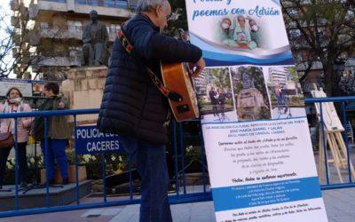 Marcha solidaria por los boques del Valle del Ambroz  para estar al lado de Adrián. Día 8 de abril de 2018