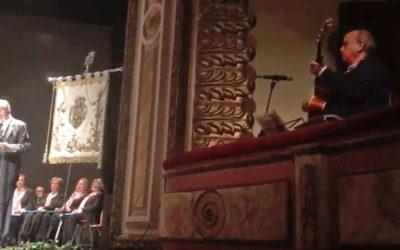 Matias Simon Villares canta el Pregón de la Virgen de la Montaña Cáceres 19 abril 2018