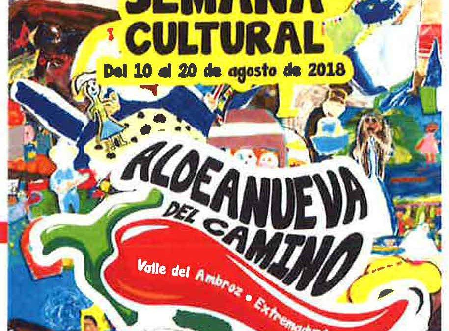 reconocimiento a DON JULIO GARCIA ARROYO en la Semana Cultural de Aldeanueva del Camino